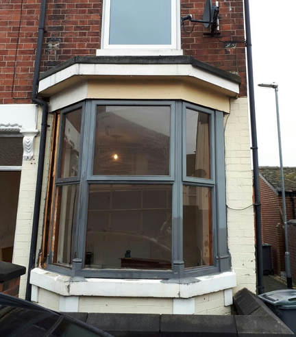 Window replaced in bay window