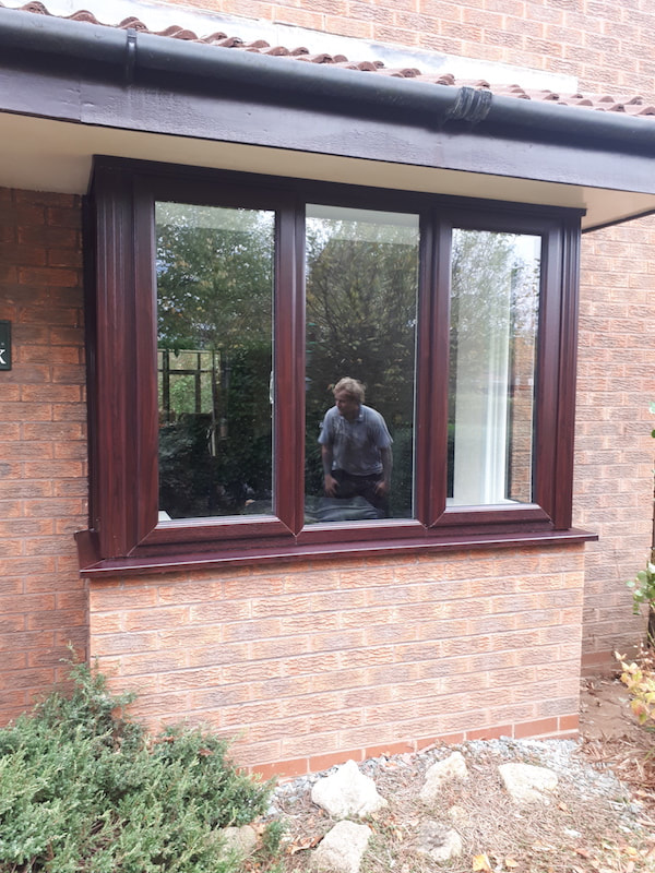 New UPVC window with double glazing installed in Cheshire.
