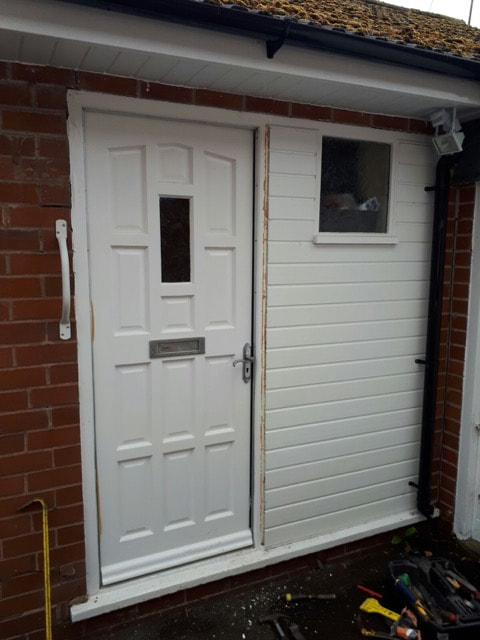 UPVC Door Installation Stockton Brook, Stoke on Trent before